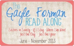 Gayle Forman Read Along – Sisters in Sanity Week 3